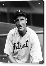 Hank Greenberg Detroit Acrylic Print by Retro Images Archive