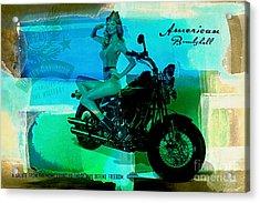 Harley Davidson Ad Acrylic Print by Marvin Blaine