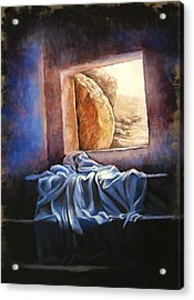 He Is Risen Acrylic Print by Susan Jenkins