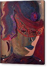 Helen  Acrylic Print by Oscar Penalber