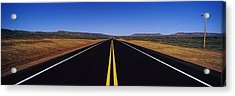 Highway Passing Through A Landscape Acrylic Print by Panoramic Images