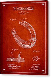 Horseshoe Patent Drawing From 1881 Acrylic Print by Aged Pixel