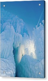 Ice Sculptures, Zermatt Resort, Midway Acrylic Print by Howie Garber
