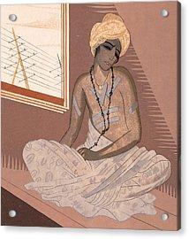 Illustration For Kim By Rudyard Kipling Acrylic Print by Francois-Louis Schmied