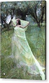 In The Orchard Acrylic Print by Angel  Tarantella