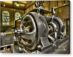 In The Ship-lift Engine Room Acrylic Print by Heiko Koehrer-Wagner