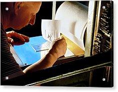 Intaglio Printmaking Acrylic Print by Patrick Landmann
