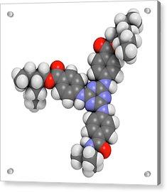 Iscotrizinol Sunscreen Molecule Acrylic Print by Molekuul
