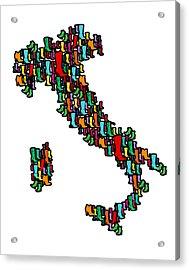 Italy Map Acrylic Print by Mark Ashkenazi