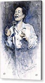 Jazz Billie Holiday Lady Sings The Blues  Acrylic Print by Yuriy  Shevchuk
