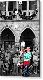 Juggler In Epcot Center Acrylic Print by Jim Hughes