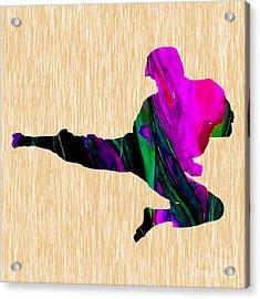 Karate Acrylic Print by Marvin Blaine