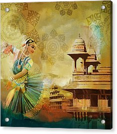 Kathak Dancer Acrylic Print by Catf