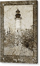 Key West Lighthouse Acrylic Print by John Stephens