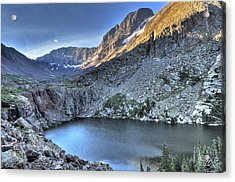 Kit Carson Peak And Willow Lake Acrylic Print by Aaron Spong