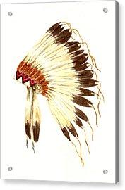 Lakota Headdress Acrylic Print by Michael Vigliotti
