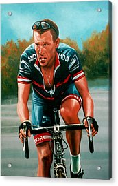 Lance Armstrong Acrylic Print by Paul Meijering