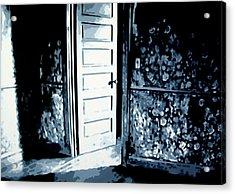 Laura's Painting Acrylic Print by Luis Ludzska