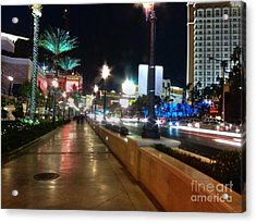Leaving Las Vegas Acrylic Print by David Bearden