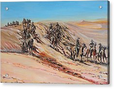 Light Horse On Patrol Acrylic Print by Leonie Bell
