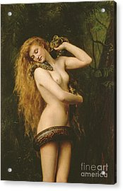 Lilith Acrylic Print by John Collier