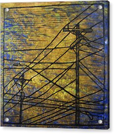Lines Acrylic Print by William Cauthern