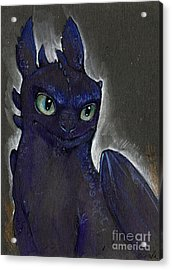 Little Dragon Acrylic Print by Angel  Tarantella