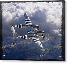 Lockheed P-38 Lightning Acrylic Print by Larry McManus