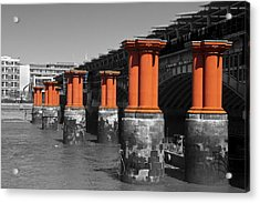 London Thames Bridges Acrylic Print by David French