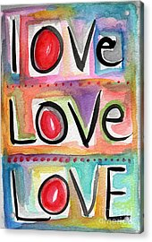 Love Acrylic Print by Linda Woods