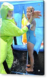 Major Emergency Decontamination Training Acrylic Print by Public Health England