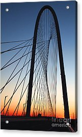 Margaret Hunt Hill Bridge Acrylic Print by Elena Nosyreva