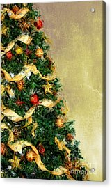 Merry Xmas Acrylic Print by Angela Doelling AD DESIGN Photo and PhotoArt