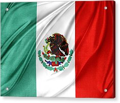 Mexican Flag Acrylic Print by Les Cunliffe