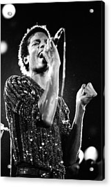Michael Jackson 1981 Acrylic Print by Chris Walter