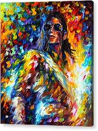 Michael Jackson Acrylic Print by Leonid Afremov