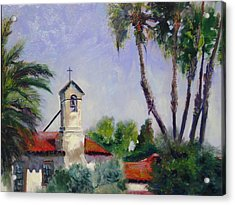 Mission San Juan Capistrano Acrylic Print by Luz Perez
