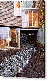 Modern House Over Rocky Creek Acrylic Print by Will Austin