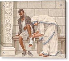 Mother Teresa Acrylic Print by John Alan  Warford
