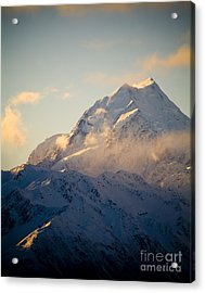 Mount Cook New Zeland Acrylic Print by Tim Hester