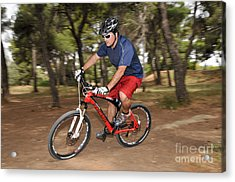 Mountain Biking Acrylic Print by George Atsametakis