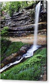 Munising Falls Acrylic Print by Adam Romanowicz