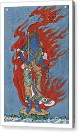 Mythological Buddhist Or Hindu Figure Circa 1878 Acrylic Print by Aged Pixel