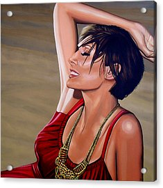 Natalie Imbruglia Painting Acrylic Print by Paul Meijering