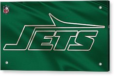 New York Jets Uniform Acrylic Print by Joe Hamilton