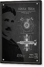 Nikola Tesla Patent From 1891 Acrylic Print by Aged Pixel