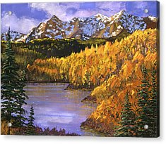 October Colors Acrylic Print by David Lloyd Glover