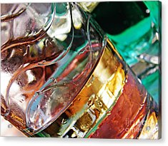 Oil And Water 28 Acrylic Print by Sarah Loft
