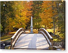 Old North Bridge Concord Acrylic Print by Brian Jannsen