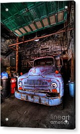 Old Pickup Truck Hdr Acrylic Print by Amy Cicconi